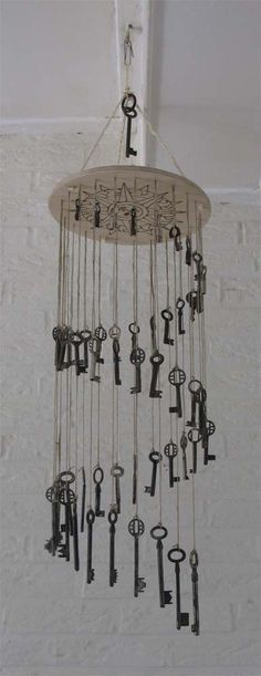 15 Trendy Garden Art Windspiele Diy - 15 Trendy G - Mini Jardins Japonais Carillons Diy, Garden Crafts, Diy Garden, Sun Catchers, Wind Chimes Craft, Old Keys, Keys Art, Home And Deco, Yard Art