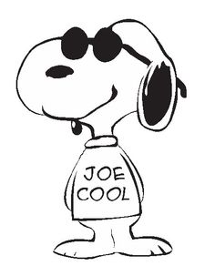 Snoopy Joe Cool  Design Pattern Instant Download by ItsSewEzee