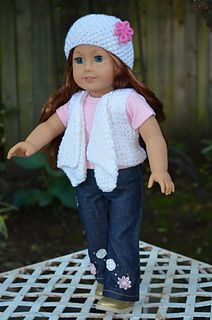 Ravelry:  American Girl Doll Spring Waterfall Set by Jacqueline Gibb