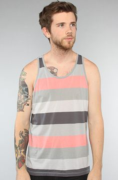$40 The Joshua Strip Tank in Multi by Cheap Monday - Use repcode SMARTCANUCKS for 20% off on #karmaloop