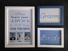 Κάδρα για νυφικό τραπέζι & τραπέζι ευχών - Με φωτογραφίες polaroid Mr Mrs, Polaroid, Groom, Bride, Home Decor, Wedding Bride, Decoration Home, Room Decor, Grooms