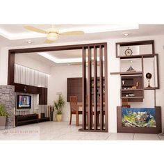 Wood Partition, वुड पार्टीशन, Wood Partition - Right Ways Decor, Bengaluru Living Room Partition Design, Living Room Tv Unit Designs, Room Partition Designs, Living Room Divider, Ceiling Design Living Room, Room Door Design, Kitchen Room Design, Home Room Design, Home Ceiling
