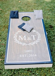 custom corn hole boards | Amy Arrington