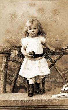 Pretty Vintage Toddler in High Top Shoes  - Instant Digital Download Photo D144A. $3.50, via Etsy.