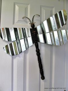 wing shapes out of a sheet of corrugated metal using tin snips Table Leg Dragonflies. wing shapes out of a sheet of corrugated metal using tin snips Metal Yard Art, Metal Tree Wall Art, Table Legs, A Table, Corrugated Tin, Corrugated Roofing, Ceiling Fan Blades, Ceiling Fans, Metal Ceiling
