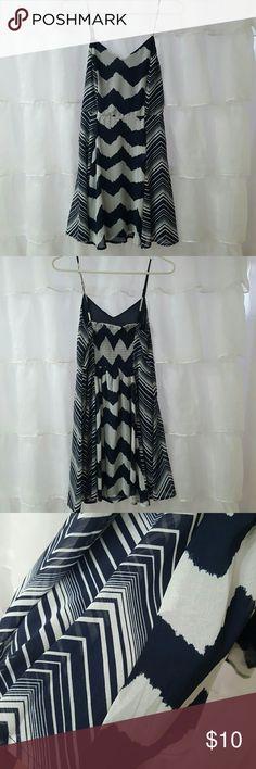Blue white sundress Flirty blue and white sundress. Worn once. M Fire Los Angeles Dresses Mini