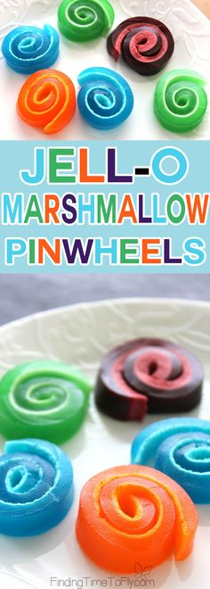 These Jell-O Marshmallow Pinwheels would be great to serve at a party or to make with the kids after school. So much fun to make and eat!