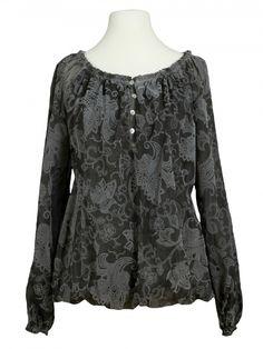 Damen Bluse Paisley Muster, anthrazit von Amanti bei www.meinkleidchen.de
