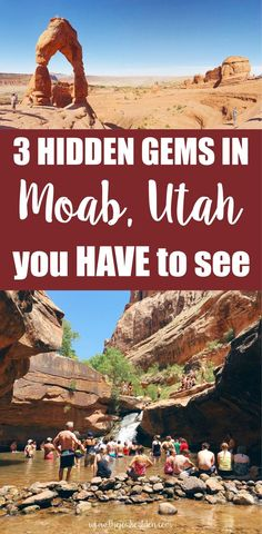 3 hidden gems in Moab you HAVE to see There are so many things to do in Moab, Utah besides the national parks! Here's 3 hidden gems in Moab you have to see. Moab Utah, Utah Hikes, Oh The Places You'll Go, Places To Travel, Utah Parks, National Parks In Utah, Utah Vacation, Vacation Spots, Vacation Ideas
