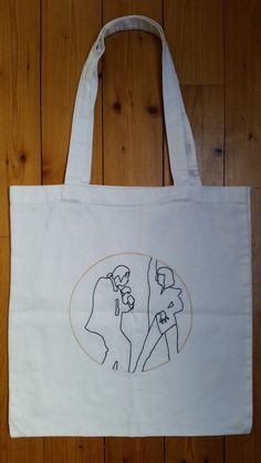 Tote bag brodé - Pulp Fiction