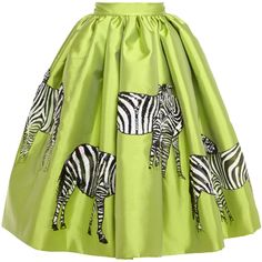Stella Jean Acqua Mikado Skirt With Hand-Painted Zebras (163.320 RUB) ❤ liked on Polyvore featuring skirts, zebra print skirt, sequin skirt, zebra skirt, stella jean skirt and green sequin skirt