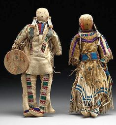 Dolls, Sioux pre-1893. Coll. at Ft. Keogh, MT. NMNH.