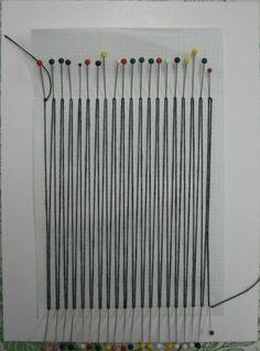 In Good Company: October Tart Kit: Pin Weaving Pin Weaving, Weaving Tools, Weaving Projects, Weaving Art, Tapestry Weaving, Loom Weaving, Fabric Weaving, Textiles, Diy Pins