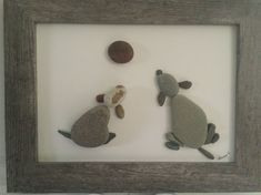 No Stone Unturned- Pebble Art Two dogs playing with ball. Created by Dawn #seaglassideas #fakeseaglassdiy