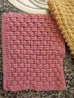 Crochet dishcloth set ~ free pattern
