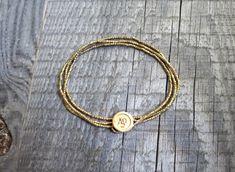 MATERIAL Om charm: Brass beads: SIZE One size. Triple Wrap, Brass Necklace, Yoga Jewelry, Adjustable Bracelet, Gifts For Husband, Hippie Boho, Delicate, Etsy Shop, Bracelets