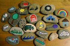 Rock stories, prompt for for children to tell stories