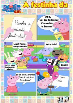 Uau! Veja o que temos para Convite Gibi Peppa Pig Peppa Pig Teddy, Aniversario Peppa Pig, Peppa Pig Family, George Pig, Alice, Smurfs, Party, Family Guy