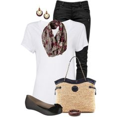 Black, White & Floral 2, created by daiscat on Polyvore