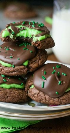 Peppermint Patty Brownie Cookie