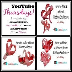 Heart Ribbon Sculptures, YouTube Thursdays! - The Ribbon Retreat Blog