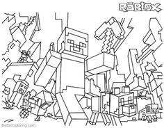 resultado de imagem para roblox para colorir desenho