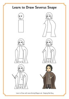 Learn to draw Severus Snape