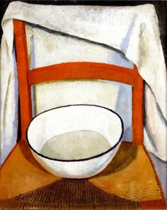 Chair with Bowl and Towel, 1917-18 by Roger Fry (British, 1866–1934)