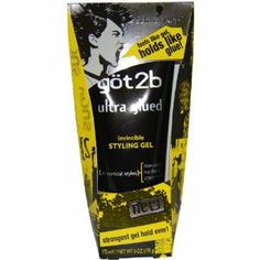 Got2b Ultra Glued Invincible Styling Gel, 6-Ounce by Got2b. $3.94. Strongest gel hold ever.. Feels like gel, holds like glue!. Non-sticky, not flakes, crazy hold. For vertical styles. This gel's hold is no joke!  So put it down and slowly back away if you're not up for the strongest gel hold ever!  This non-sticky, no-flake formula is powered by a high-tech styling agent – we call it Alpha XTR.  Call it what you want, it lets you take your hair to new hei...