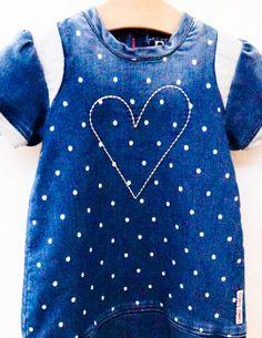 De looks van een denim dress maar zit als een sweatdress | Tumble 'n dry baby zomer 2014