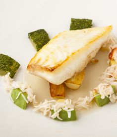 This halibut recipe is a wonderfully light, fresh and delicate fish dish with an Asian scented broth from Kevin Mangeolles.