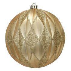 A&B Home Diamond/Glitter Ball Christmas Ornaments - Set of 4.