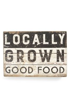 Primitives by Kathy 'Locally Grown Good Food' Box Sign available at #Nordstrom