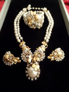 Outstanding 1950's Miriam Haskell Set-WOW by Jewelboy on Etsy