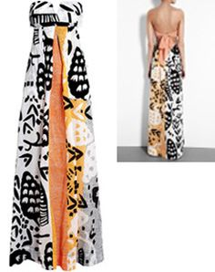 Ethnic print maxi dress by DVF: A Spring/Summer must-have! Not big on dresses, but adore long flowy skirts? then re-purpose it w/ no sewing required! Just click on the pic & learn how!