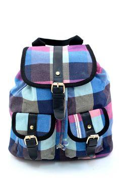 Γυναικείο σακίδιο πλάτης με σχέδιο καρώ. Κλείνει με μαγνητικό κούμπωμα και το ύφασμα του είναι εξαιρετικής ποιότητας canvas. Diaper Bag, Backpacks, Bags, Fashion, Handbags, Moda, Fashion Styles, Diaper Bags, Mothers Bag