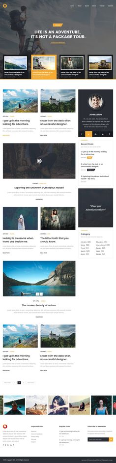 Dot – Personal Blog PSD Template