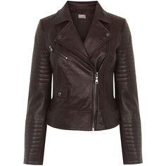 AVA LEATHER BIKER JACKET (12.775 RUB) ❤ liked on Polyvore featuring outerwear, jackets, leather motorcycle jacket, real leather jackets, leather jackets, biker jacket and moto jacket