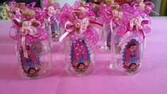 Party favor/12 botellitas agua bendita virgencita pliss