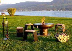 Feuerherd-Feuerschale Grillplatz am See