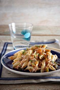 Greek Recipes, Fish Recipes, Pasta Recipes, Cooking Recipes, Healthy Recipes, Pasta Noodles, Food For Thought, I Foods, Pasta Salad