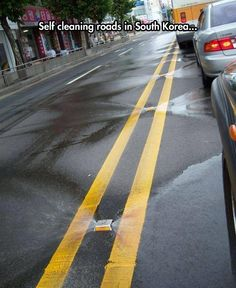 Street Cleaners In Korea. Take note CA. No ridiculous tickets for people parking on the street
