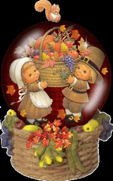Thanksgiving Snow Globe Clip Art | Animated Thanksgiving Snowglobe Graphics Code | Animated Thanksgiving ...