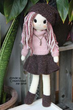 Una muñequita preparada para el invierno.