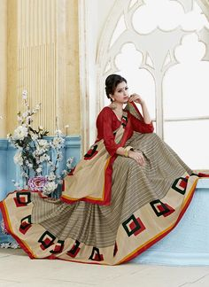 Buy latest saree from india's best online clothing store. Shop now! Cod & free shipping. Opulent print work casual saree.