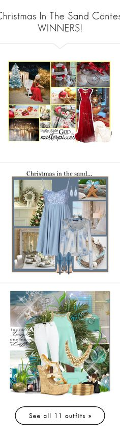 """""""Christmas In The Sand Contest WINNERS!"""" by par0dise ❤ liked on Polyvore featuring Better Homes and Gardens, Topshop, Issa, Givenchy, Reeds Jewelers, Traffic People, Maison Scotch, Badgley Mischka, Swarovski and Chanel"""