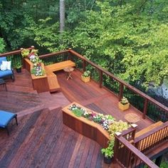Outdoor Living - deck with planters