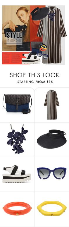 """""""Y-3 Packaway Visor"""" by laste-co ❤ liked on Polyvore featuring Meli Melo, Joseph, Lanvin, Y-3, STELLA McCARTNEY, Grey Ant, Kenneth Jay Lane, Marc by Marc Jacobs and Sonia Rykiel"""
