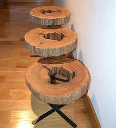 Tronco de madeira designer