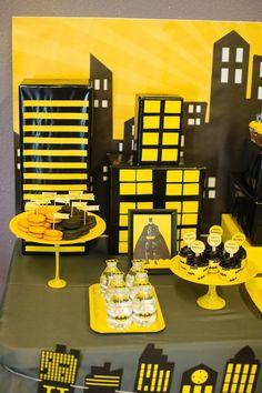 Batman themed birthday party via Kara's Party Ideas